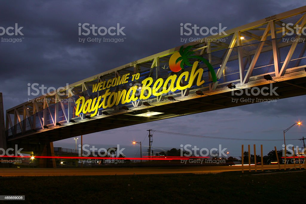 Daytona Beach Sign stock photo