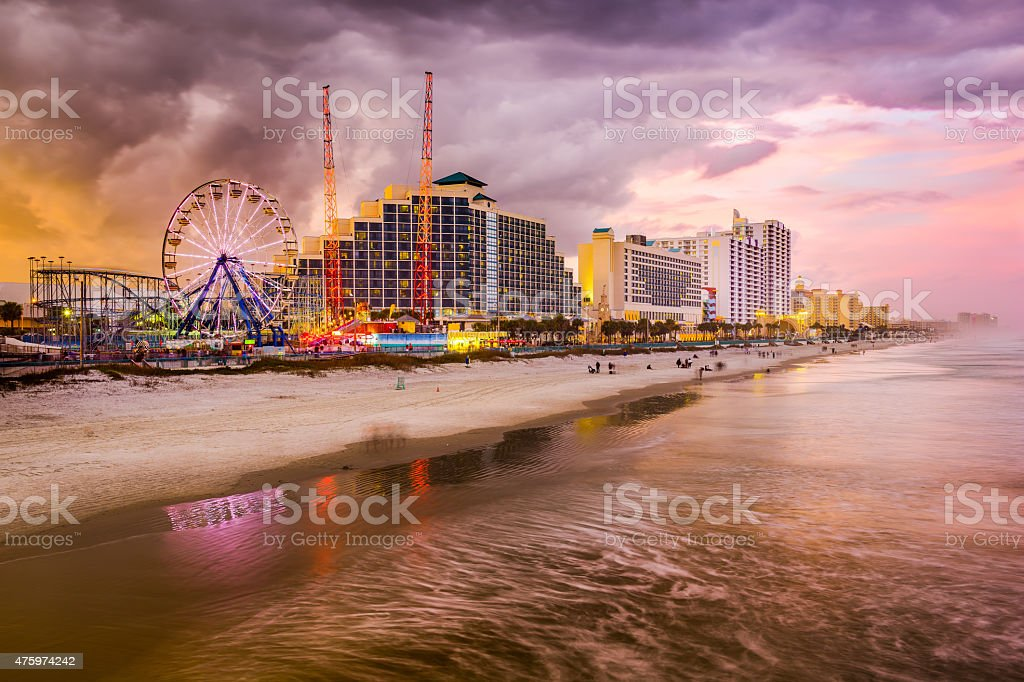 Daytona Beach Skyline stock photo