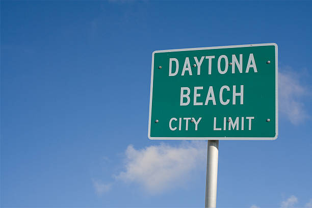daytona city limits - daytona 500 stock photos and pictures