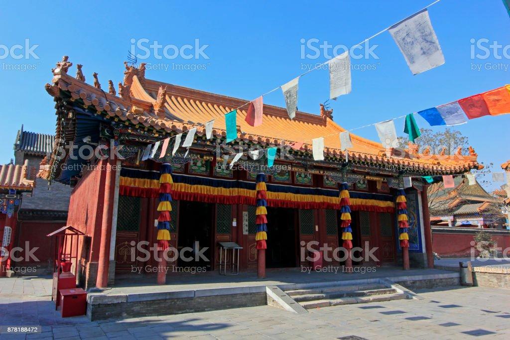 Dazhao Lamasery Building scenery, on February 6, 2015, Hohhot city, Inner Mongolia autonomous region, China stock photo