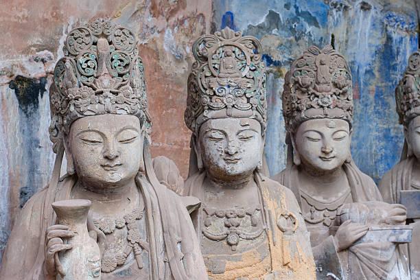 Dazu rock carvings,chongqing,china stock photo