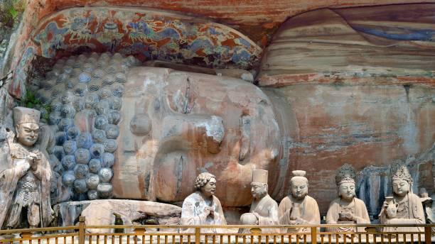 Dazu Rock Carvings-Liegenden Buddha – Foto