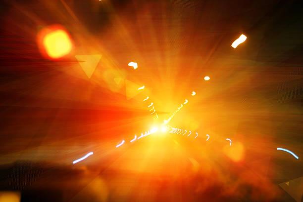 Atemberaubende Auto-Lichter in der Nacht – Foto