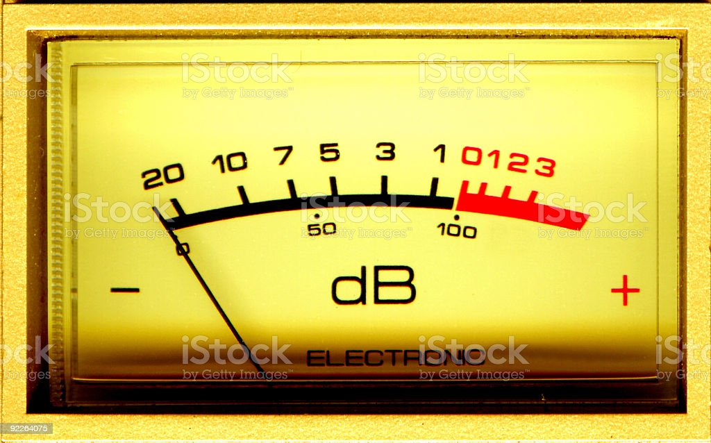 dB Meter stock photo