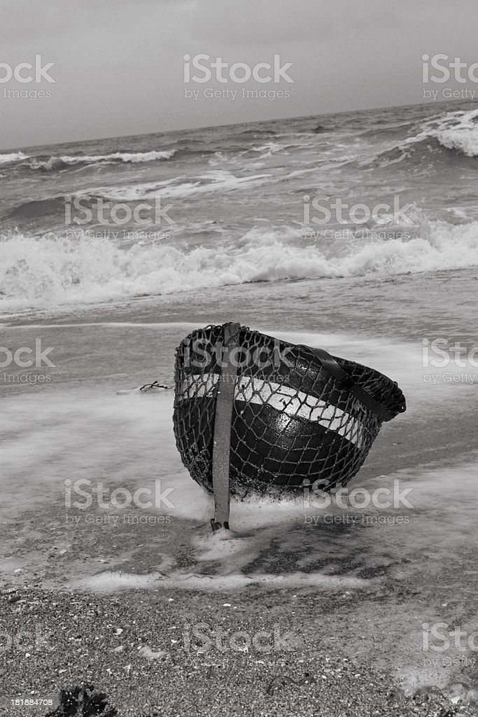 D-Day Casualty,Omaha. stock photo