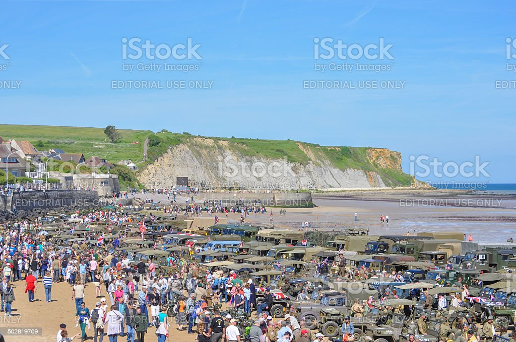 D-Day celebrations in Arromanches royalty-free stock photo