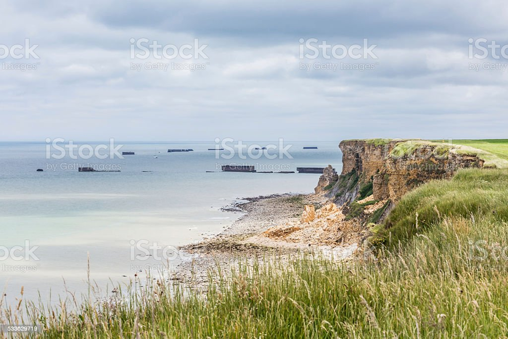D-Day coastline – Normandy, France stock photo
