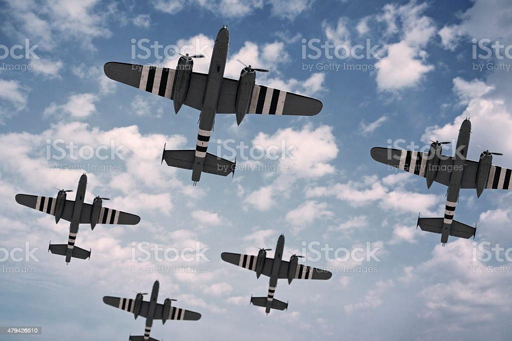 D-Day Dawn stock photo