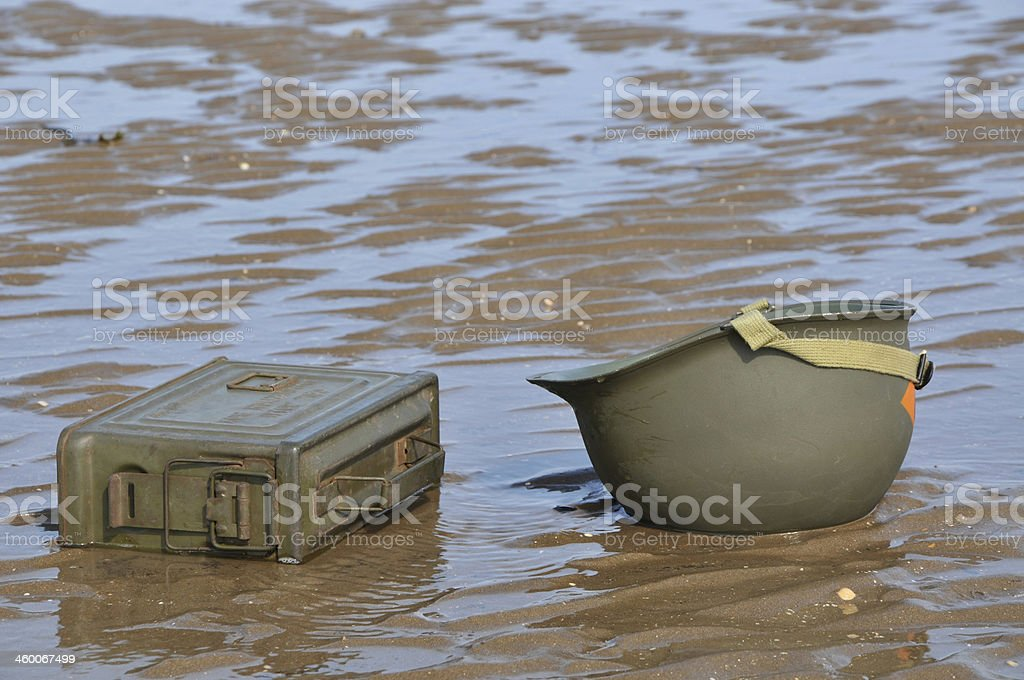D-Day Landings - WW2  US Army Equipment royalty-free stock photo