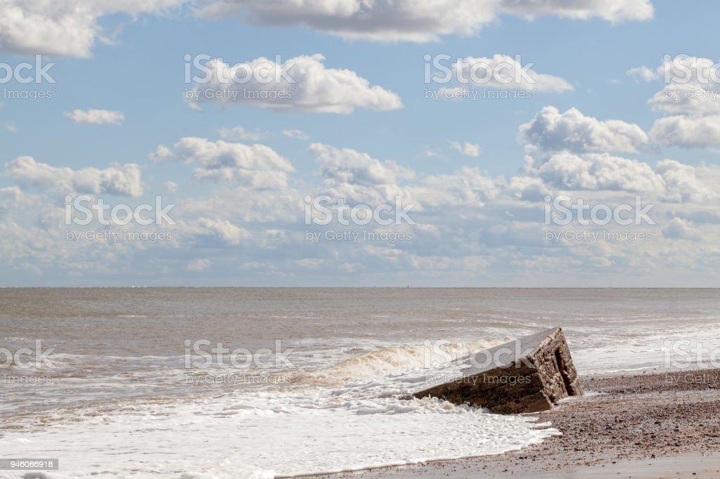Dday Normandie Landungen Küstenlandschaft Mit Wolken Und Teilweise