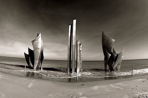 D-Day Omaha beach memorial stock photo