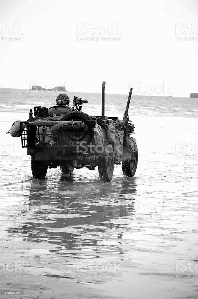 D-Day Omaha Beach. royalty-free stock photo