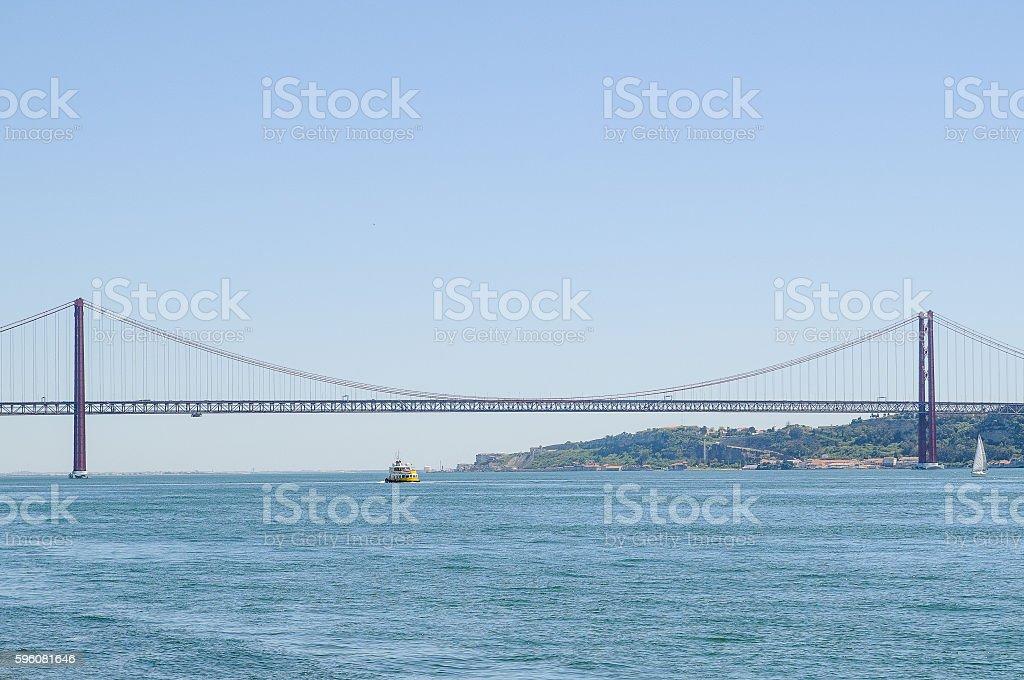 25 de Abril Bridge royalty-free stock photo