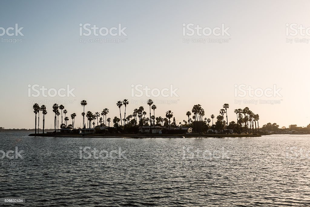De Anza Cove at Mission Bay Park stock photo