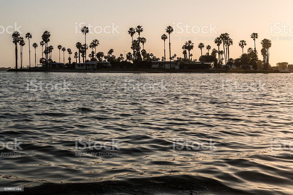 De Anza Cove on Mission Bay in San Diego stock photo