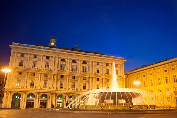 De Ferrari square, Genova, Italy stock photo