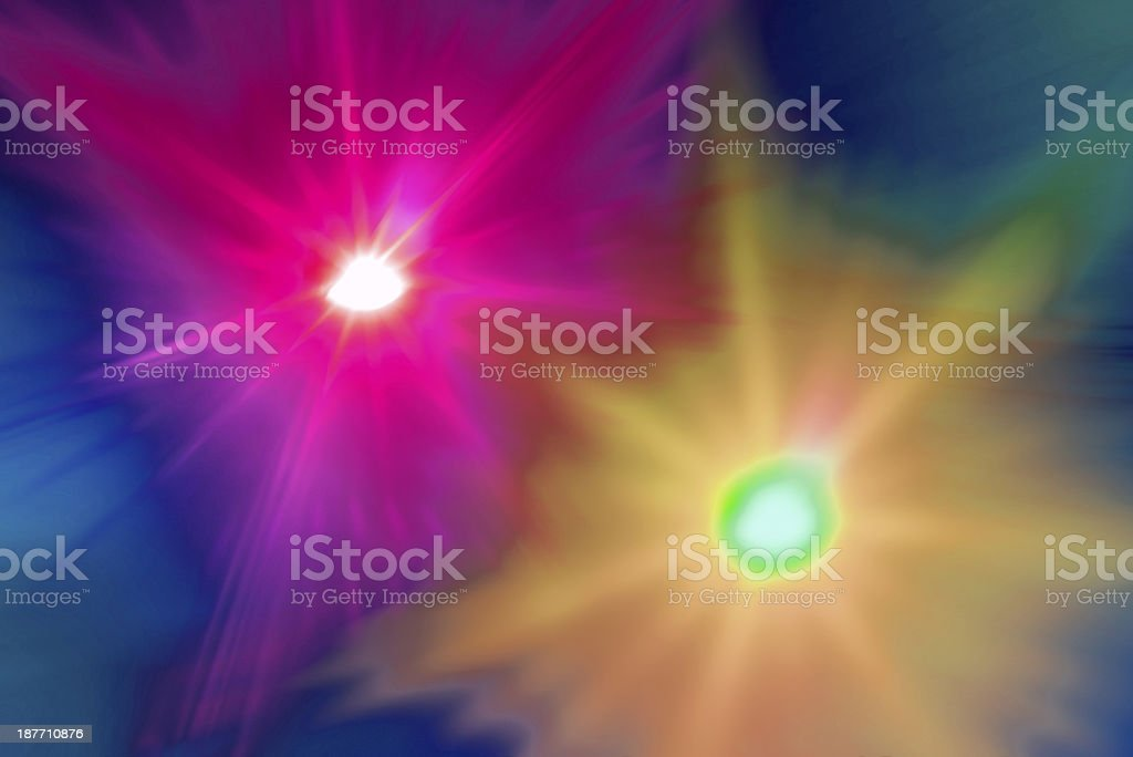De focus city lights royalty-free stock photo