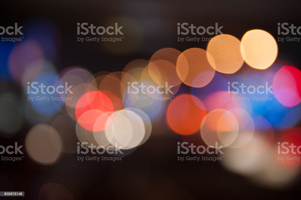 De focused/Blurred image of lights. Blur lights. Light bokeh. zbiór zdjęć royalty-free