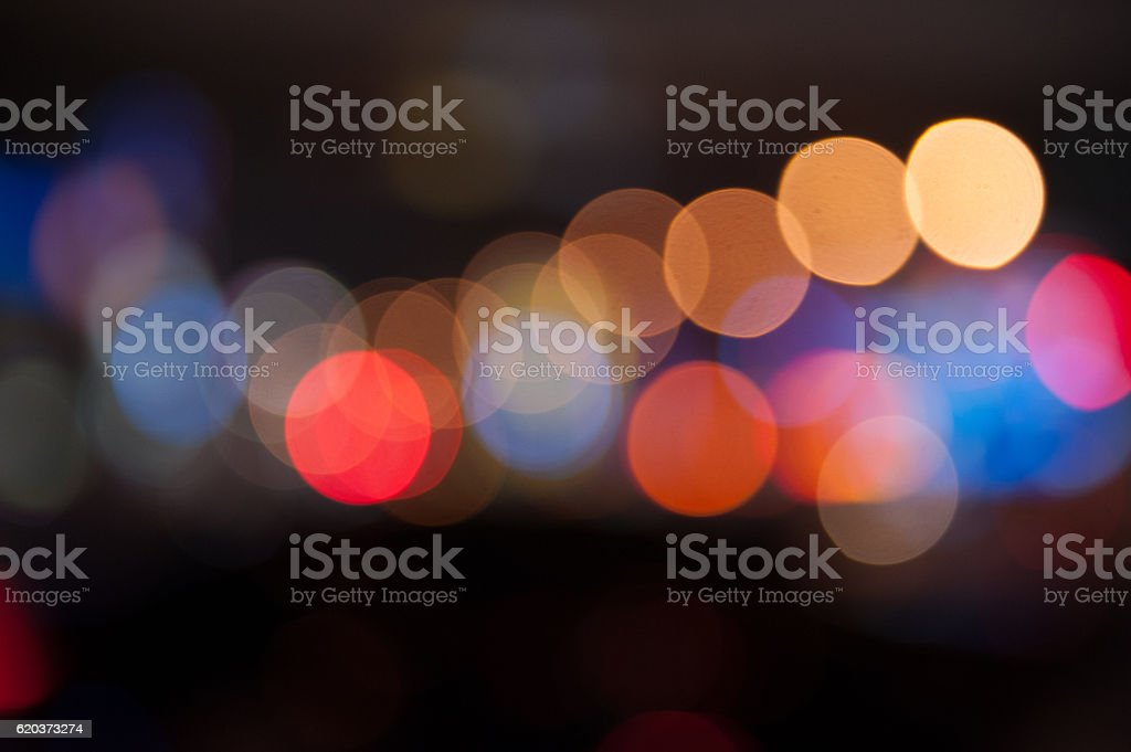 De focused/Blurred image of lights. Blur lights. Light bokeh. zbiór zdjęć royalty-free