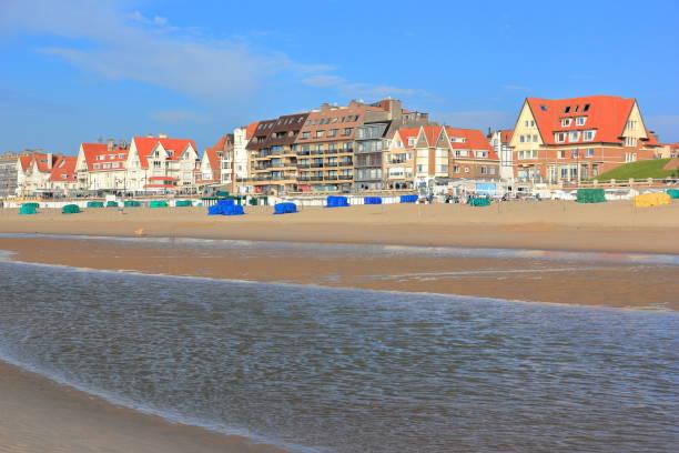 De Haan. North Sea, Belgium, Europe. stock photo