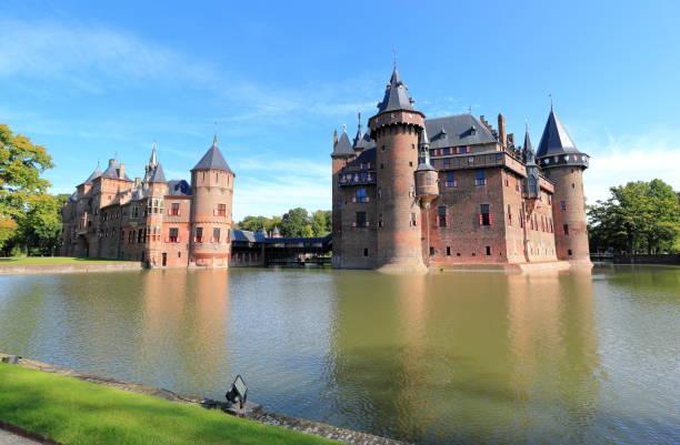 De Haar Castle in Utrecht, the Netherlands. stock photo