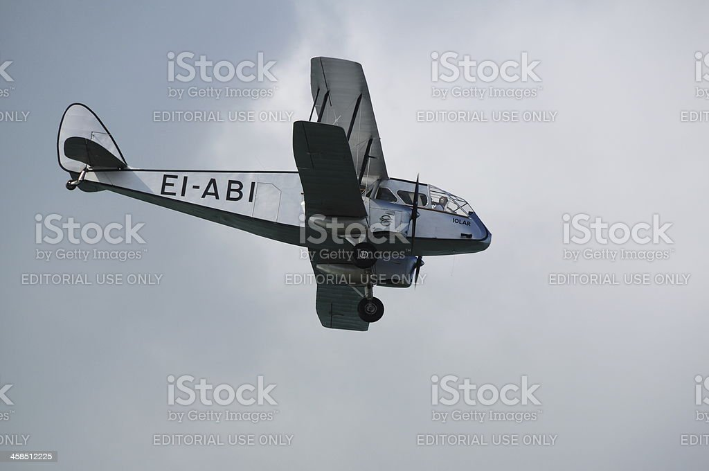 De Havilland DH-84 Dragon, U.K. royalty-free stock photo