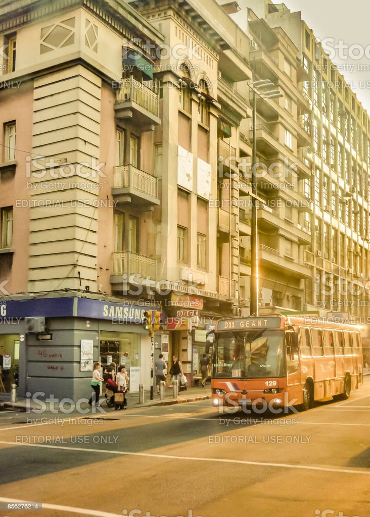 18 de Julio Avenue, Montevideo, Uruguay stock photo