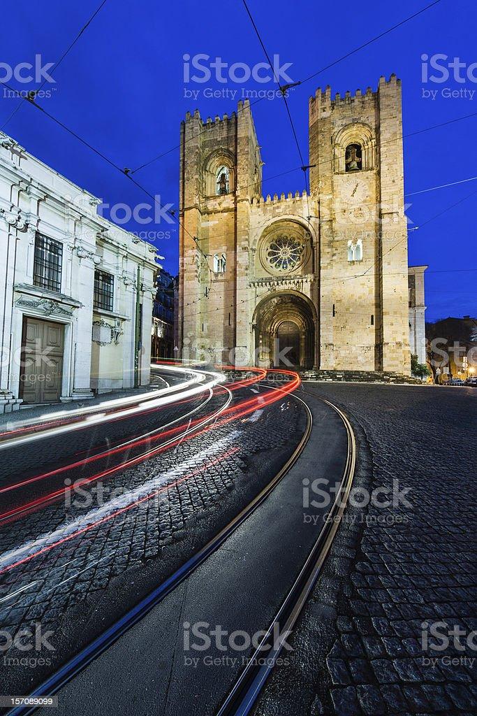 Sé de Lisboa stock photo