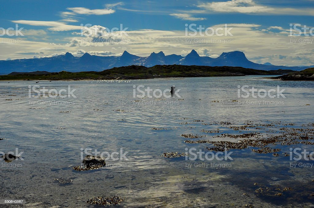 De syv søstre in Norway. stock photo