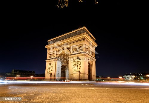 istock ARC De Triomphe PARIS 1130993772