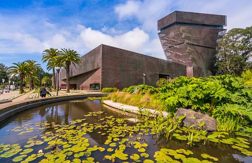 de young museum 02/18/2020 San Francisco, Ca. in Golden Gate Park Museum hosting several exhibits