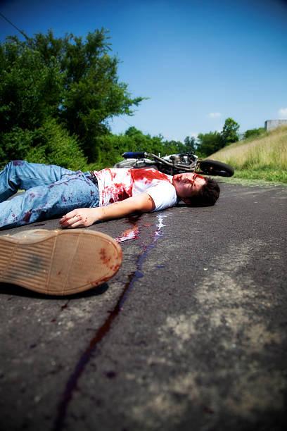 Dead Biker stock photo