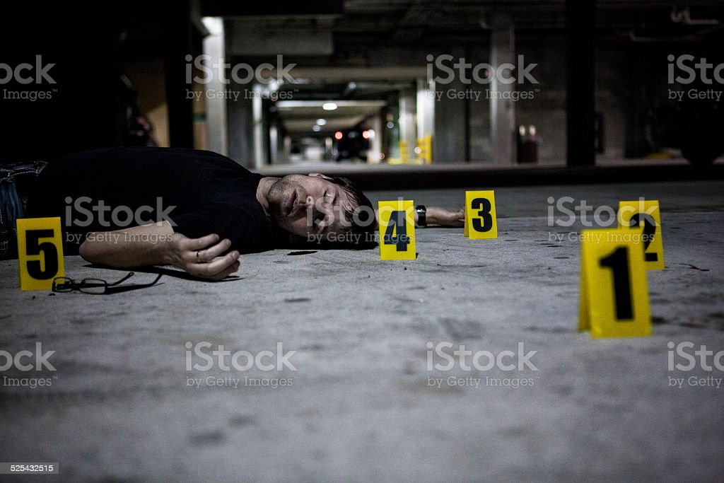 Dead Body At Crime Scene Stock Photo & More Pictures of 30-39 Years
