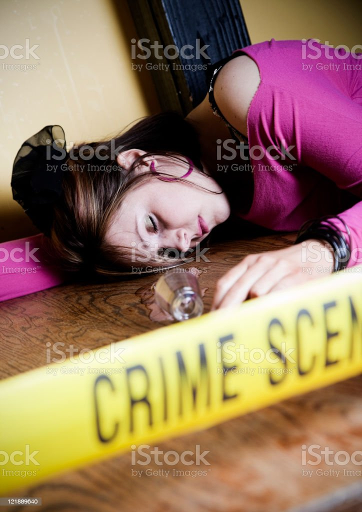 Dead Body Crime Scene stock photo