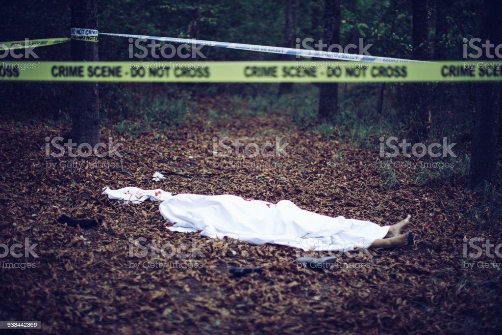 Dead body - foto de acervo