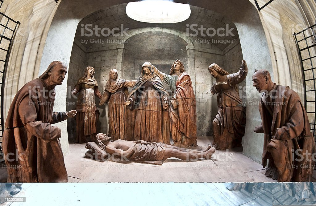 Dead Christ stock photo