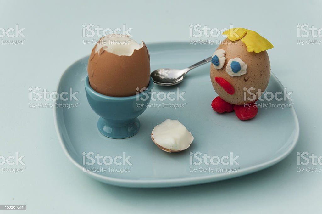 Dead egg royalty-free stock photo