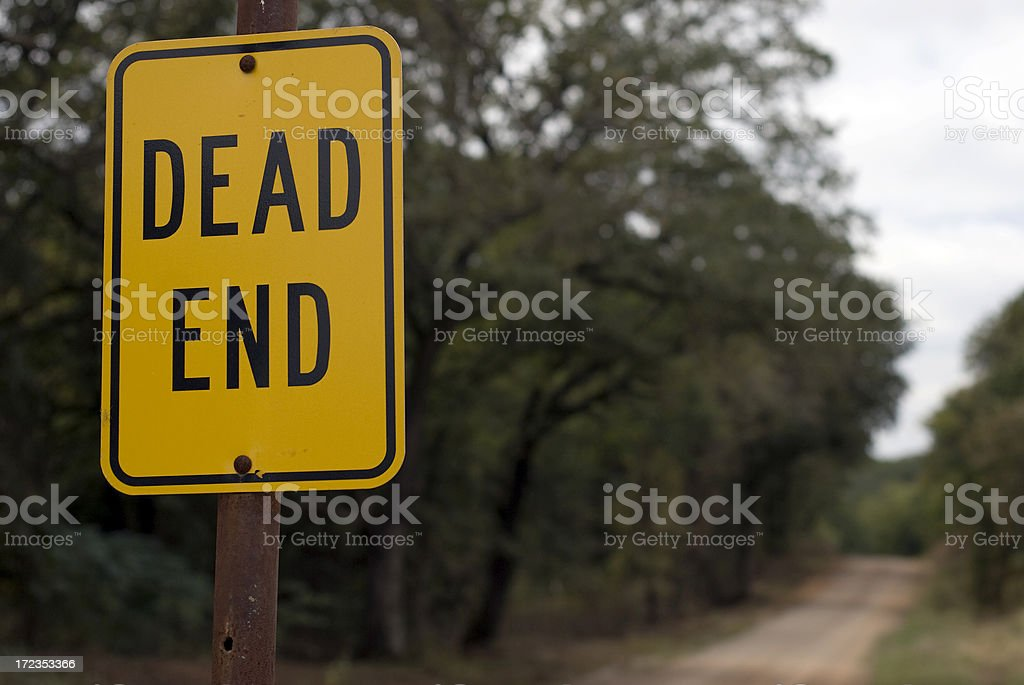 Dead End again royalty-free stock photo