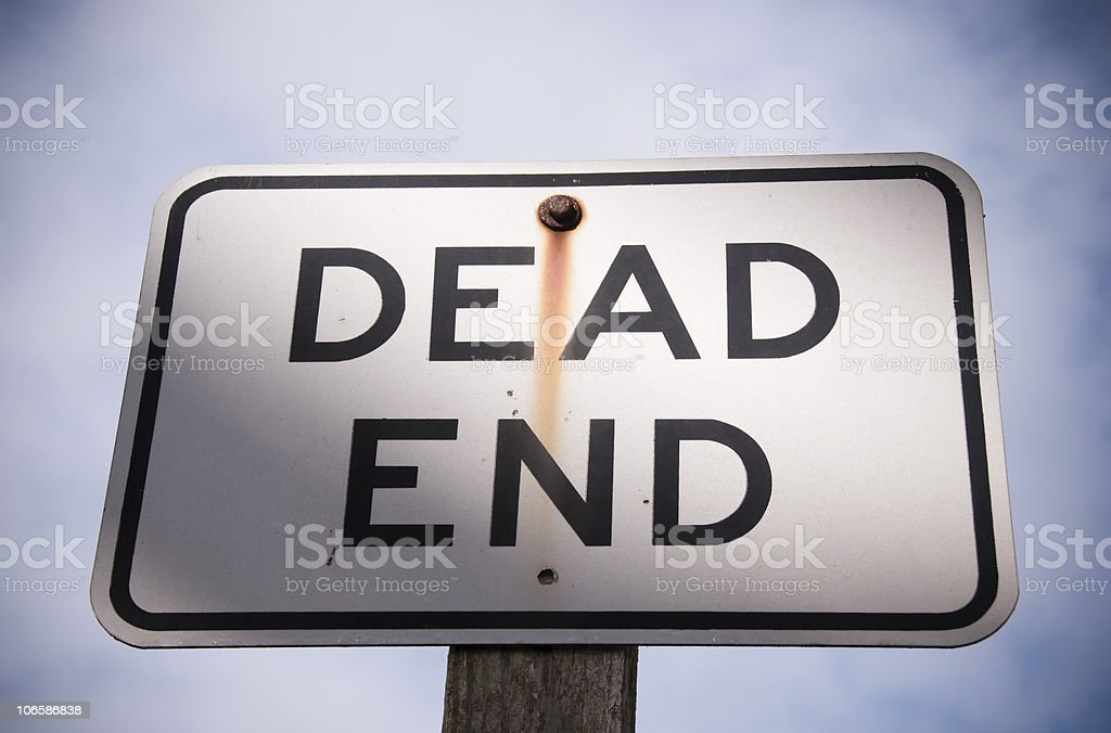 Dead End is Near stock photo