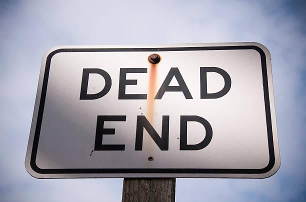 Dead End is Near stock photo