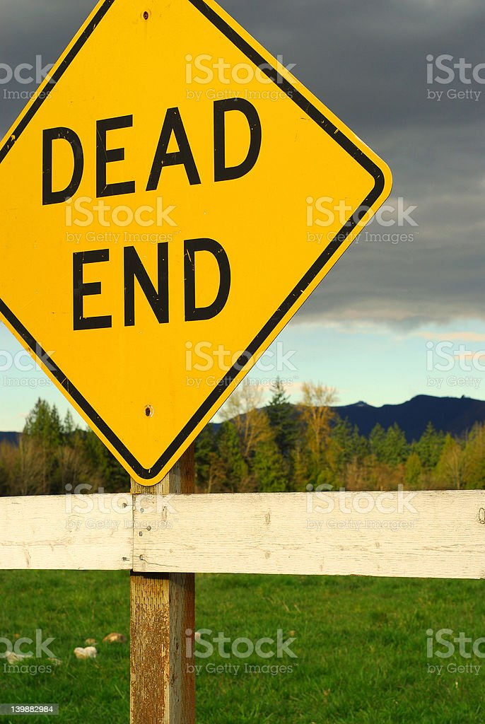Dead End stock photo