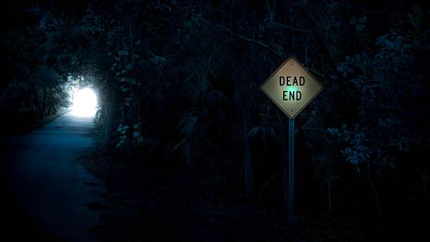 dead end - jeff wood stock-fotos und bilder