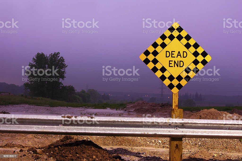 Dead End (Light) royalty-free stock photo