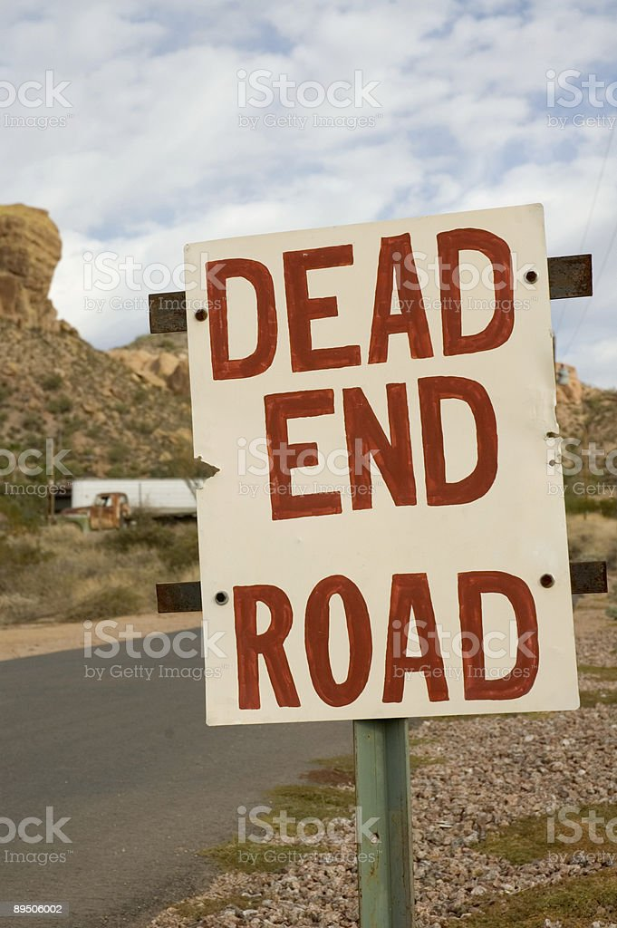 Dead End Road 1 royalty-free stock photo