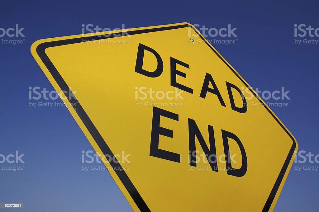 Dead End Road Sign stock photo