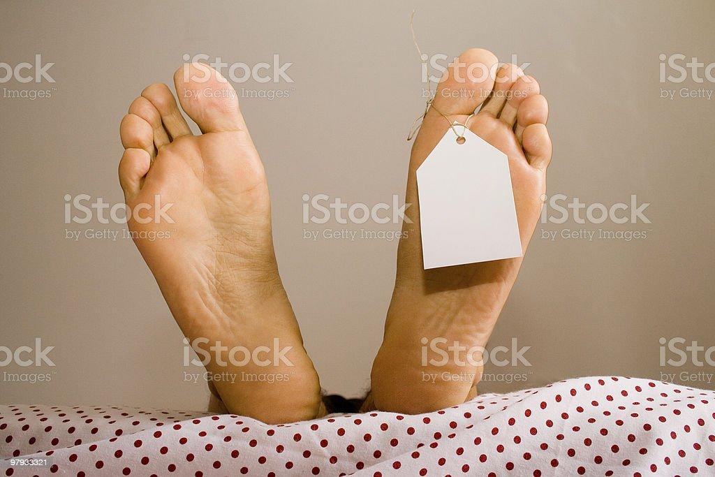 Dead feets royalty-free stock photo
