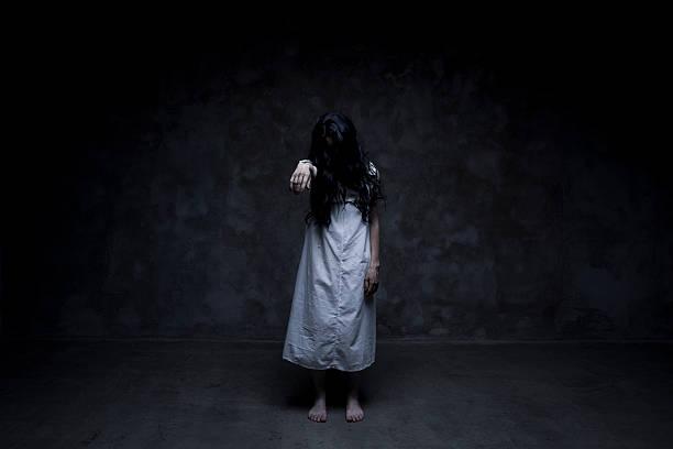 Dead girl stock photo