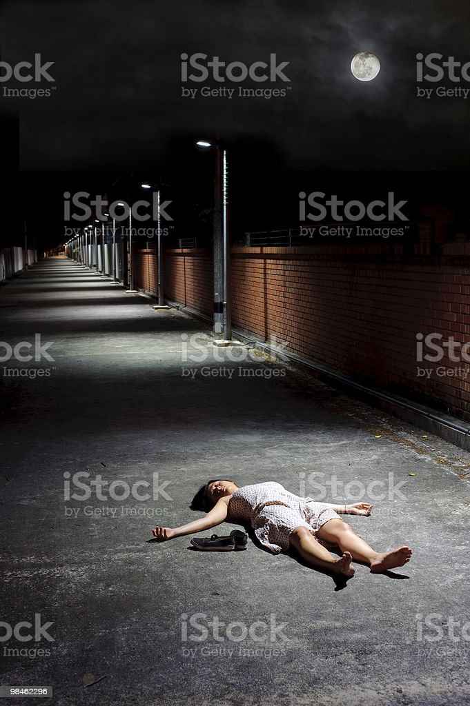 Ragazza morta foto stock royalty-free
