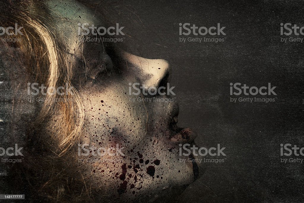 Dead Girl - Silicon Sculpture stock photo
