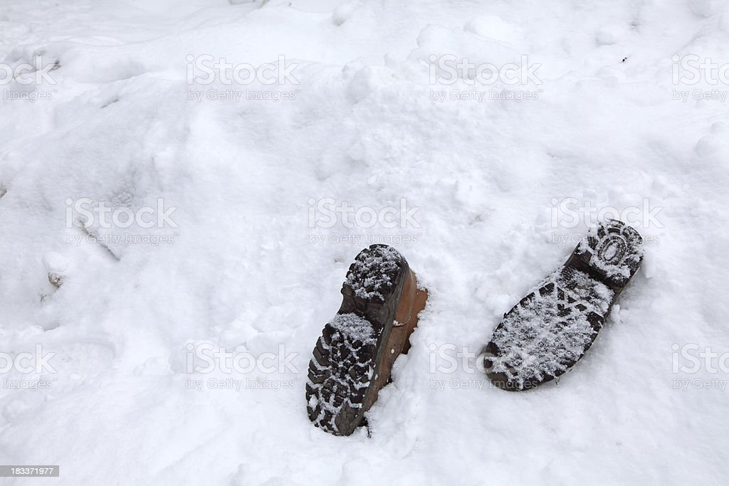 dead hiker royalty-free stock photo